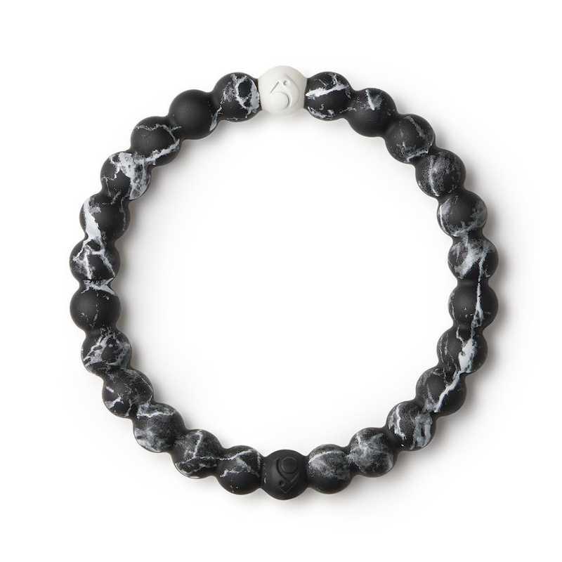 LLTD-0182BK-XL: Lokai - Black Marble Bracelet  - Extra Large