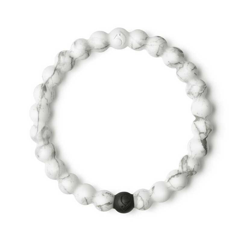 LLTD-018WH-L: Lokai - White Marble Bracelet - Large