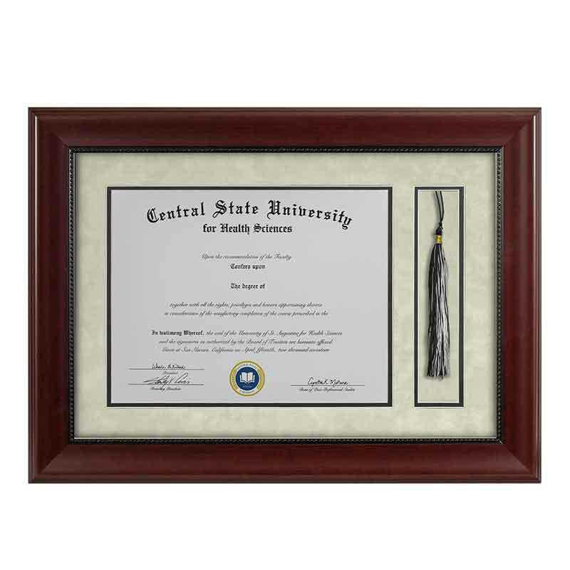 Heritage Frames 11x14 Premium Cherry Wood Diploma Frame with Tassel Display