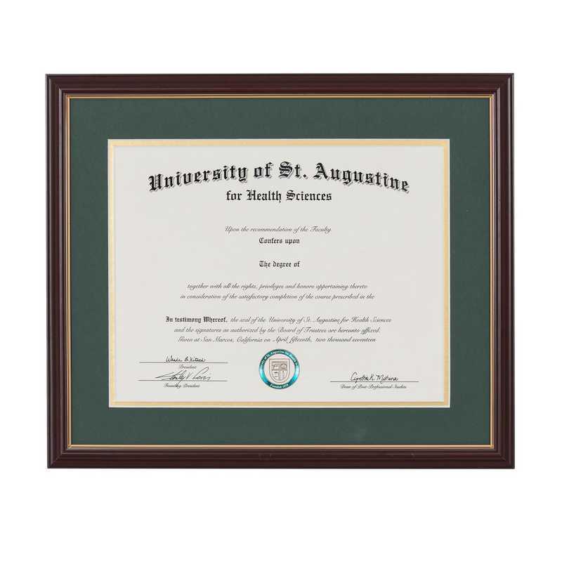 Heritage Frames Standard Cherry & Gold Wood Diploma Frame