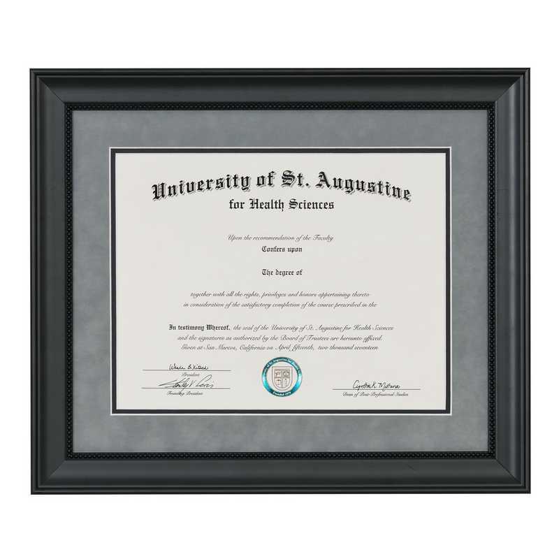 Heritage Frames Premium Black Wood Diploma Frame