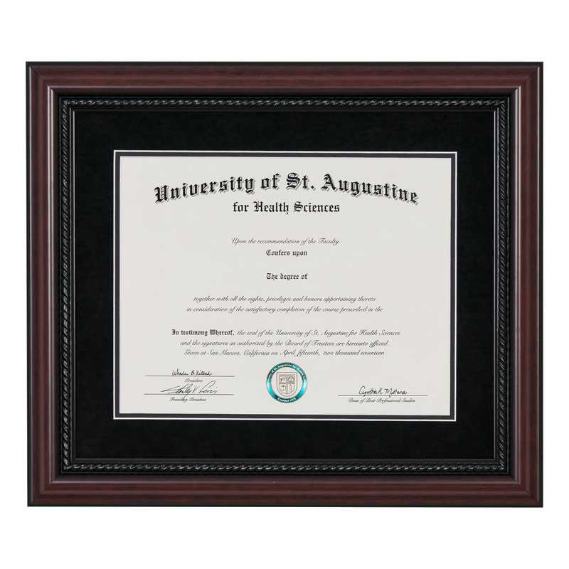 Heritage Frames Premium Cherry Wood Diploma Frame with Rope Border