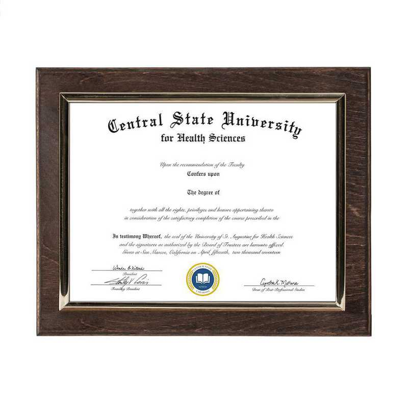 Espresso Finished Wood Wall-Mounted Diploma Plaque