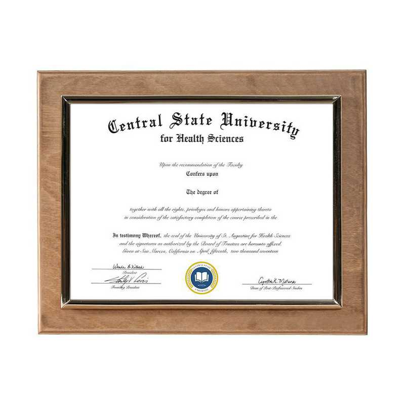 Golden Oak Finished Wood Wall-Mounted Diploma Plaque