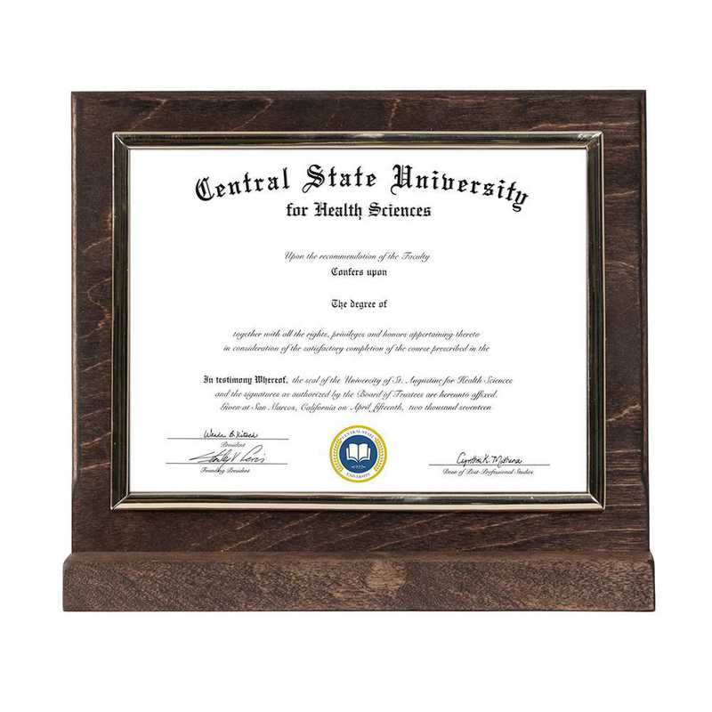 Espresso Finished Wood Standing Diploma Plaque
