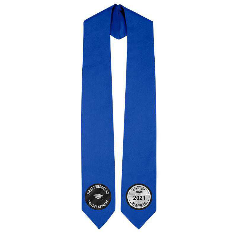 Satin Stole with Passion Patches