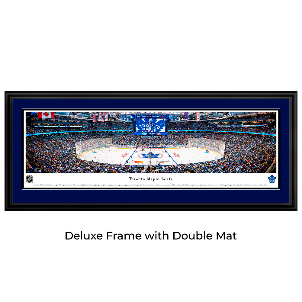 Toronto Maple Leafs Hockey Double Mat Deluxe Framed Panoramic Print