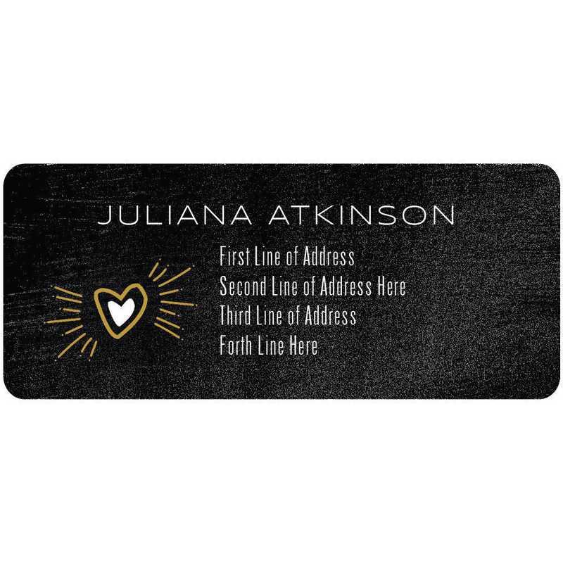 Custom Contemporary Address Labels