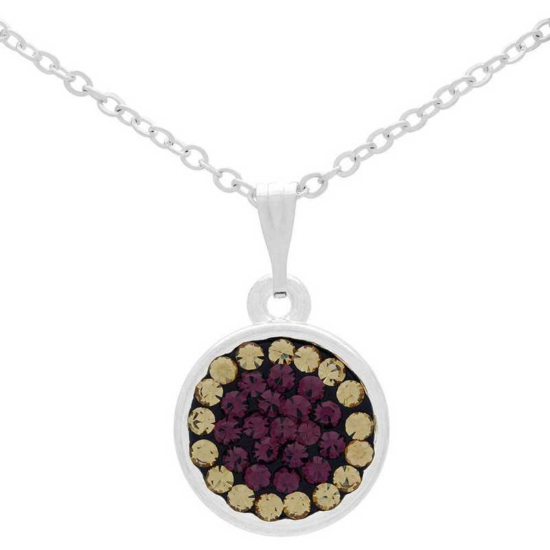 QQ-M-DANG-N-AME-LCT: Game Time Bling Circular Dangle Necklace -AME/LCT(Grape/Chmp)