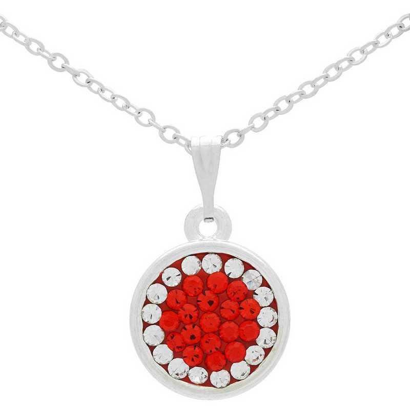 QQ-M-DANG-N-HYA-CRY: Game Time Bling Circular Dangle Necklace - HYA/CRY