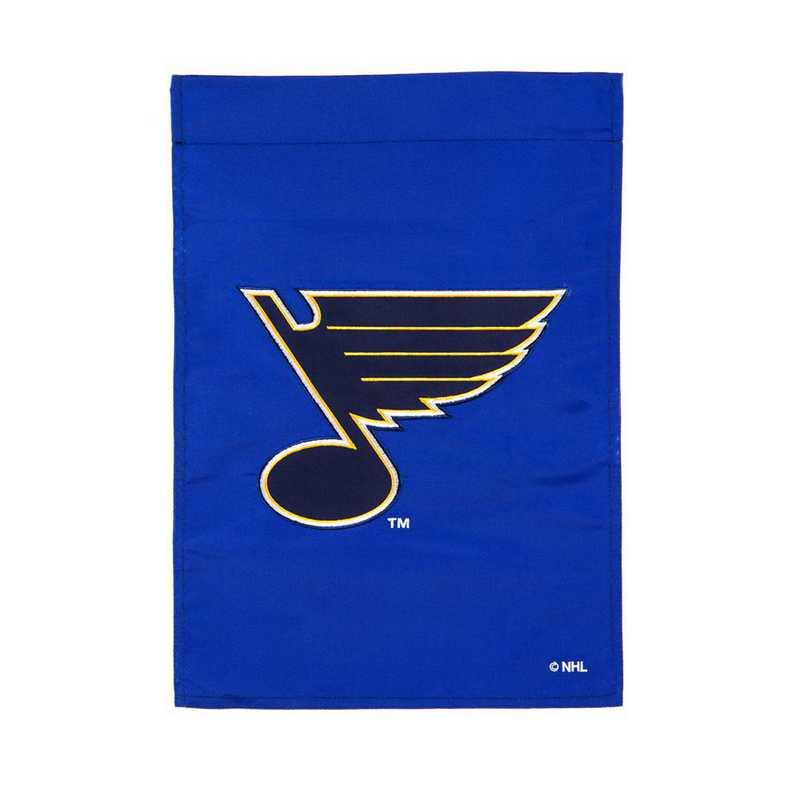 164374: EG Applique Garden Flag St Louis Blues