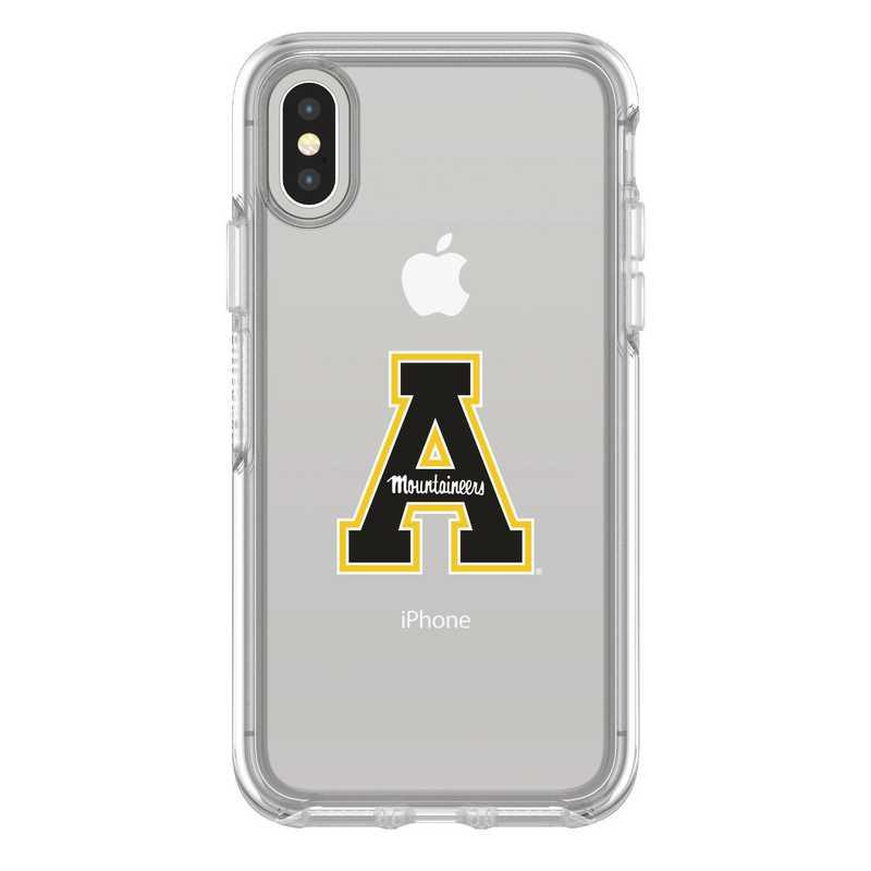 IPH-X-CL-SYM-APS-D101: FB Applachian St iPhone X Symmetry Series Clear Case