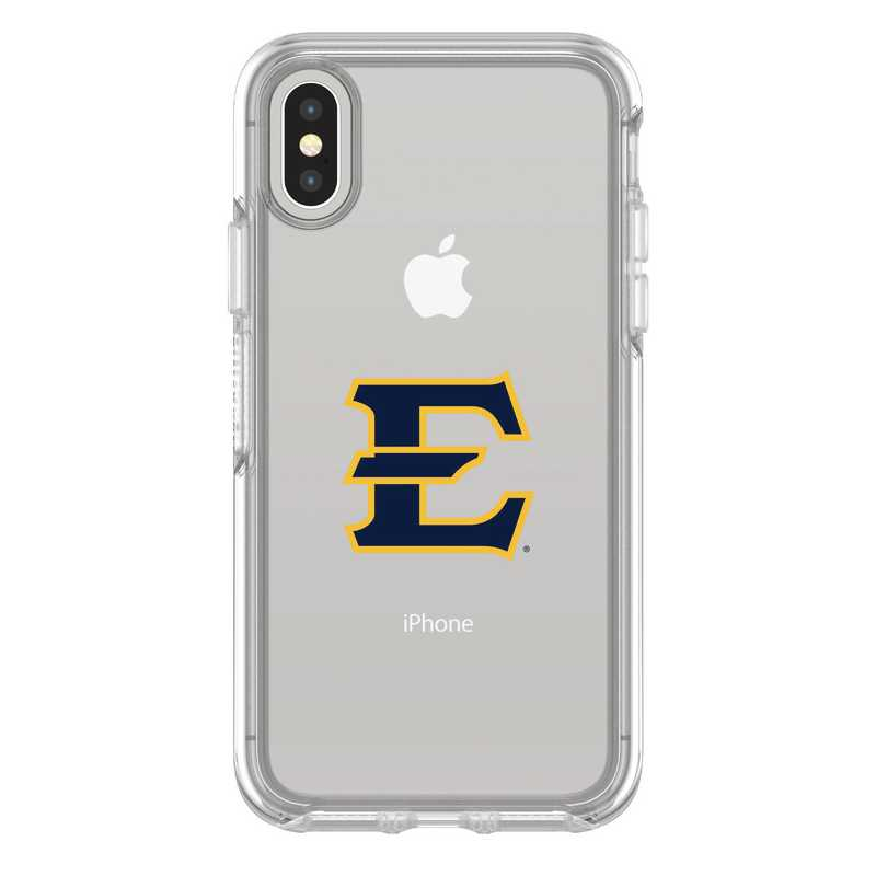 IPH-X-CL-SYM-ETSU-D101: FB Eatern Tennessee St iPhone X Symmetry Series Clear Case