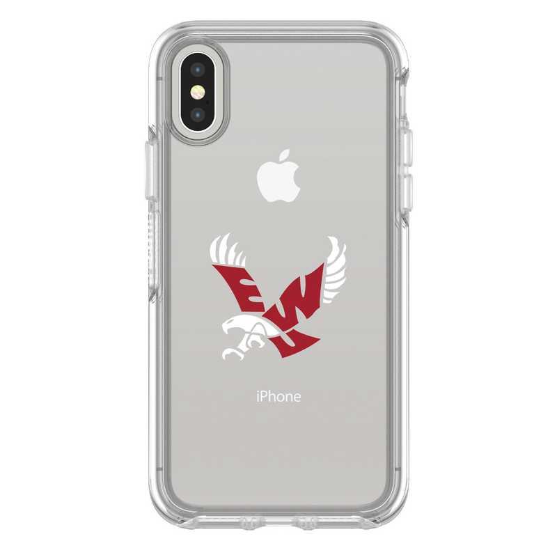 IPH-X-CL-SYM-EWU-D101: FB Eastern Washington iPhone X Symmetry Series Clear Case