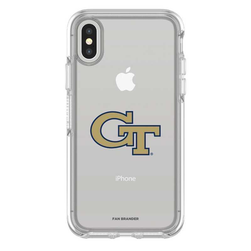 IPH-X-CL-SYM-GT-D101: FB Georgia Tech iPhone X Symmetry Series Clear Case