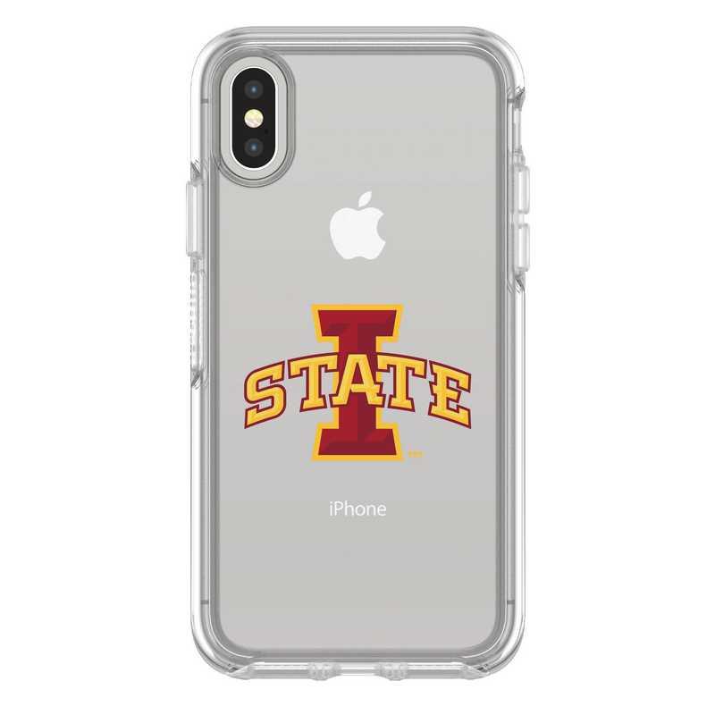 IPH-X-CL-SYM-IAS-D101: FB Iowa St iPhone X Symmetry Series Clear Case
