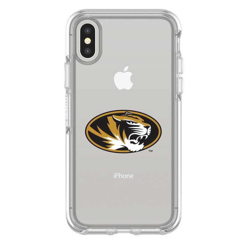 IPH-X-CL-SYM-MIS-D101: FB Missouri iPhone X Symmetry Series Clear Case