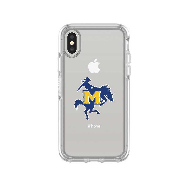 IPH-X-CL-SYM-MNS-D101: FB McNeese St iPhone X Symmetry Series Clear Case
