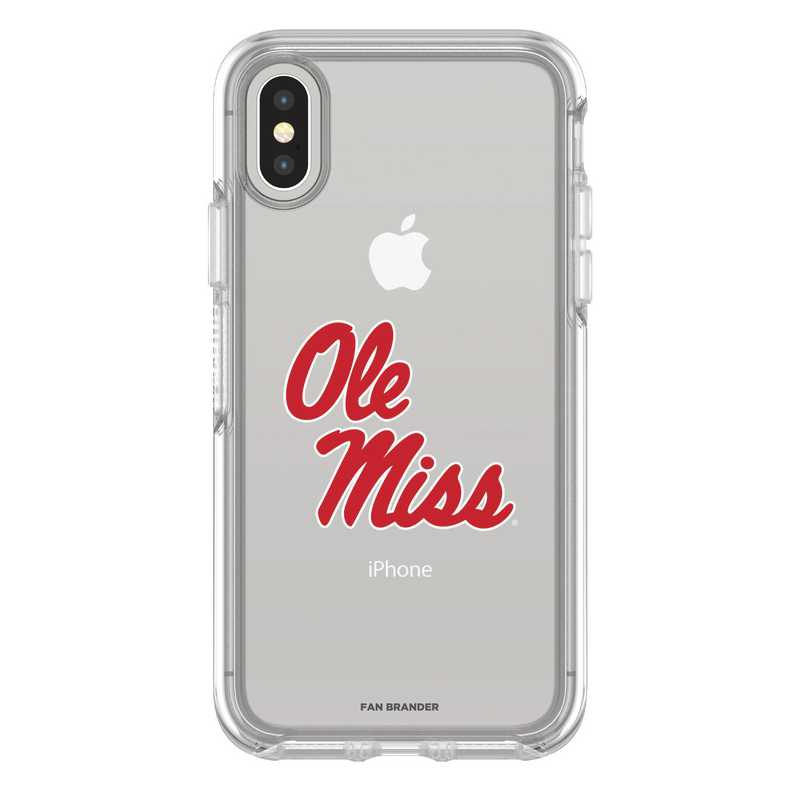 IPH-X-CL-SYM-MS-D101: FB Mississippi iPhone X Symmetry Series Clear Case