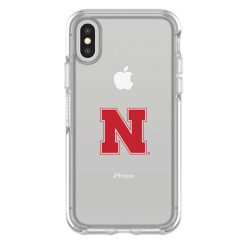 IPH-X-CL-SYM-NB-D101: FB Nebraska iPhone X Symmetry Series Clear Case