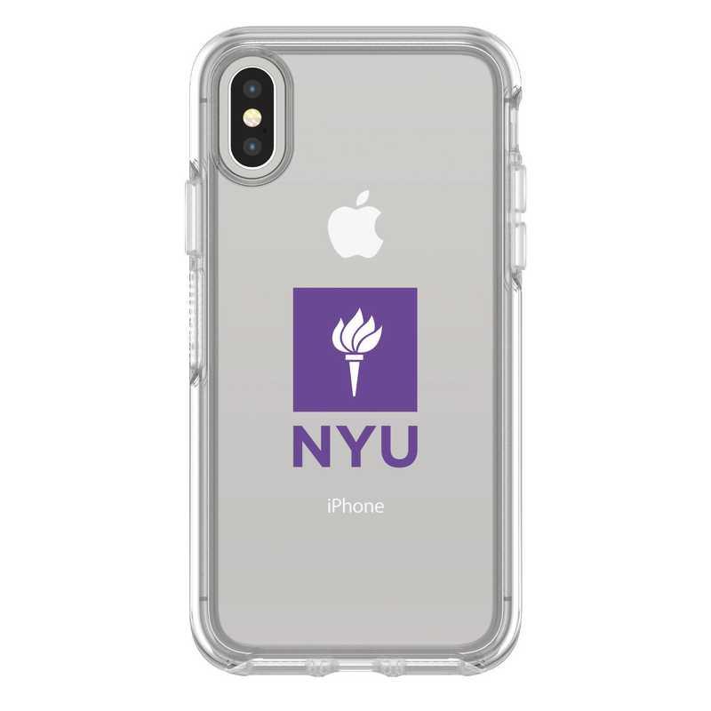 IPH-X-CL-SYM-NYU-D101: FB NYU iPhone X Symmetry Series Clear Case