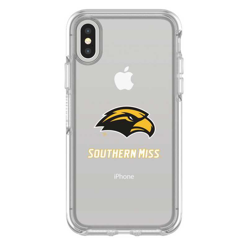 IPH-X-CL-SYM-SOMI-D101: FB Southern Mississippi iPhone X Symmetry Series Clear Case