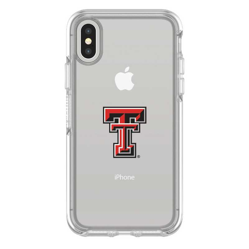 IPH-X-CL-SYM-TT-D101: FB Texas Tech iPhone X Symmetry Series Clear Case