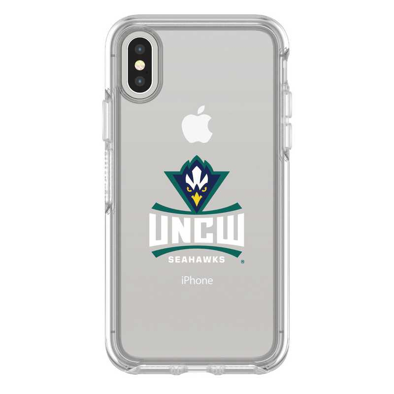 IPH-X-CL-SYM-UNCW-D101: FB UNC Wilmington iPhone X Symmetry Series Clear Case