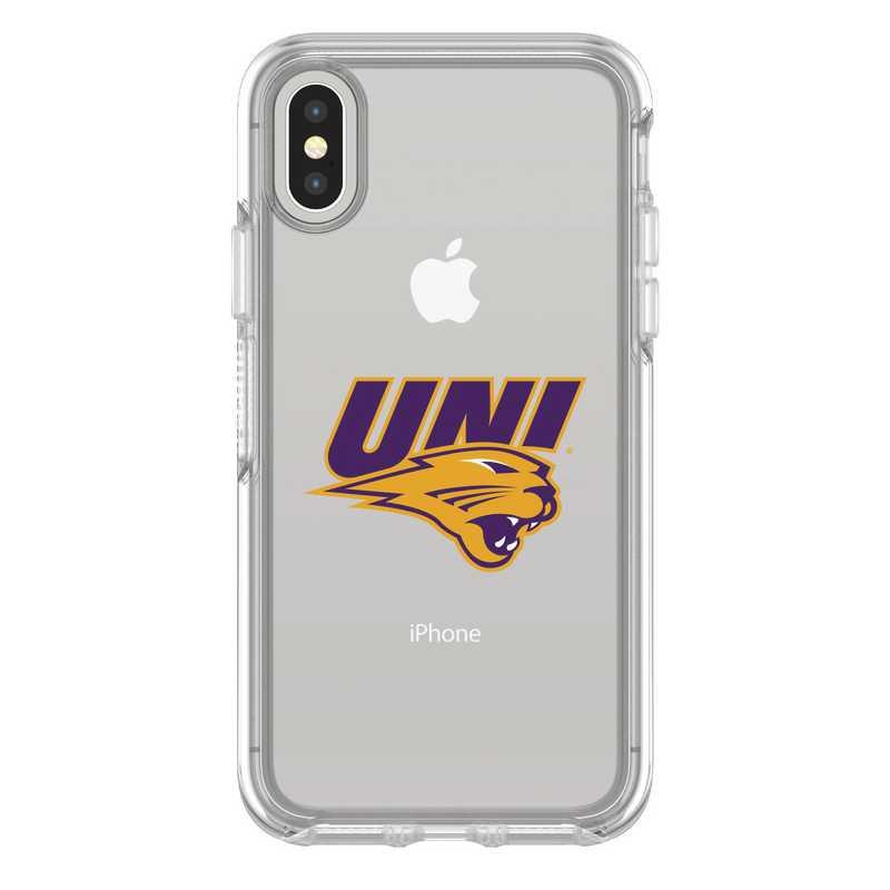IPH-X-CL-SYM-UNI-D101: FB Northern Iowa iPhone X Symmetry Series Clear Case