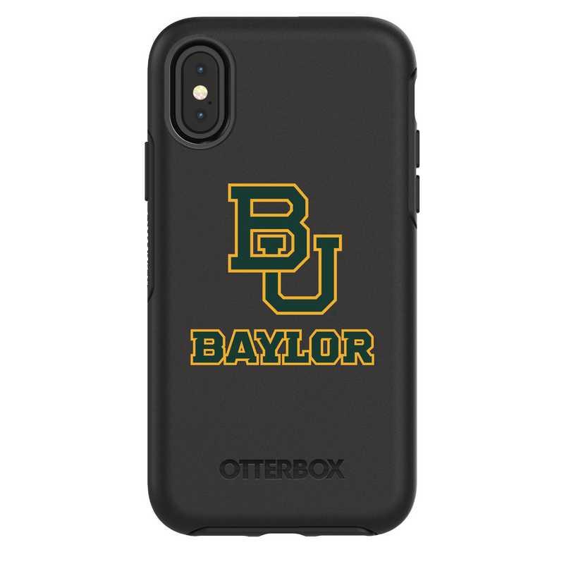 IPH-X-BK-SYM-BAY-D101: FB Baylor iPhone X Symmetry Series Case