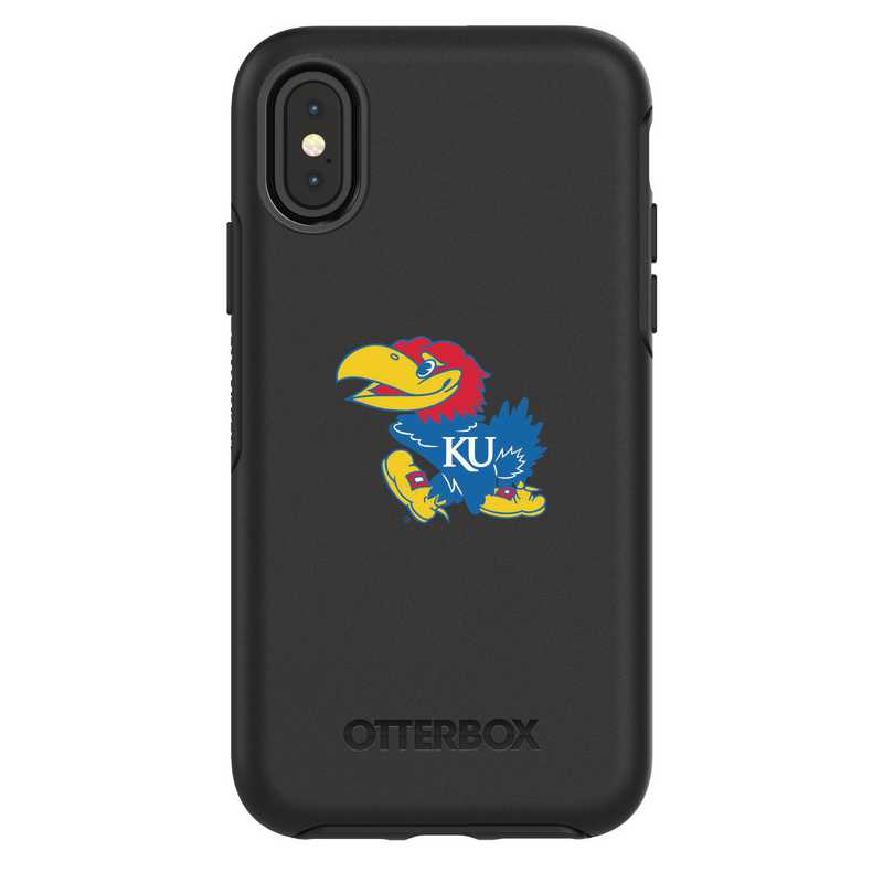 IPH-X-BK-SYM-KS-D101: FB Kansas iPhone X Symmetry Series Case