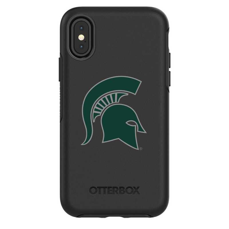 IPH-X-BK-SYM-MCS-D101: FB Michigan St iPhone X Symmetry Series Case
