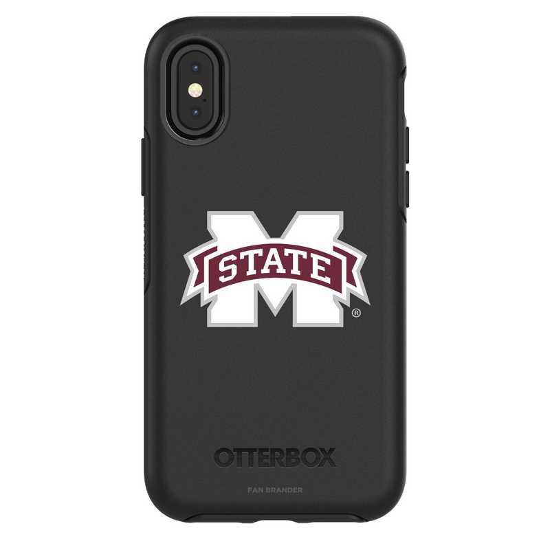 IPH-X-BK-SYM-MSST-D101: FB Mississippi St iPhone X Symmetry Series Case