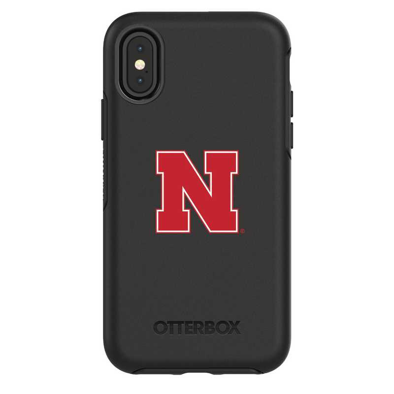 IPH-X-BK-SYM-NB-D101: FB Nebraska iPhone X Symmetry Series Case