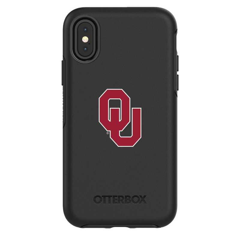 IPH-X-BK-SYM-OKC-D101: FB Oklahoma iPhone X Symmetry Series Case