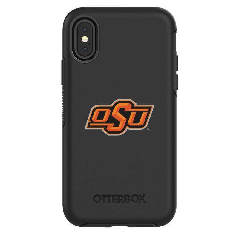 IPH-X-BK-SYM-OKS-D101: FB Oklahoma St iPhone X Symmetry Series Case