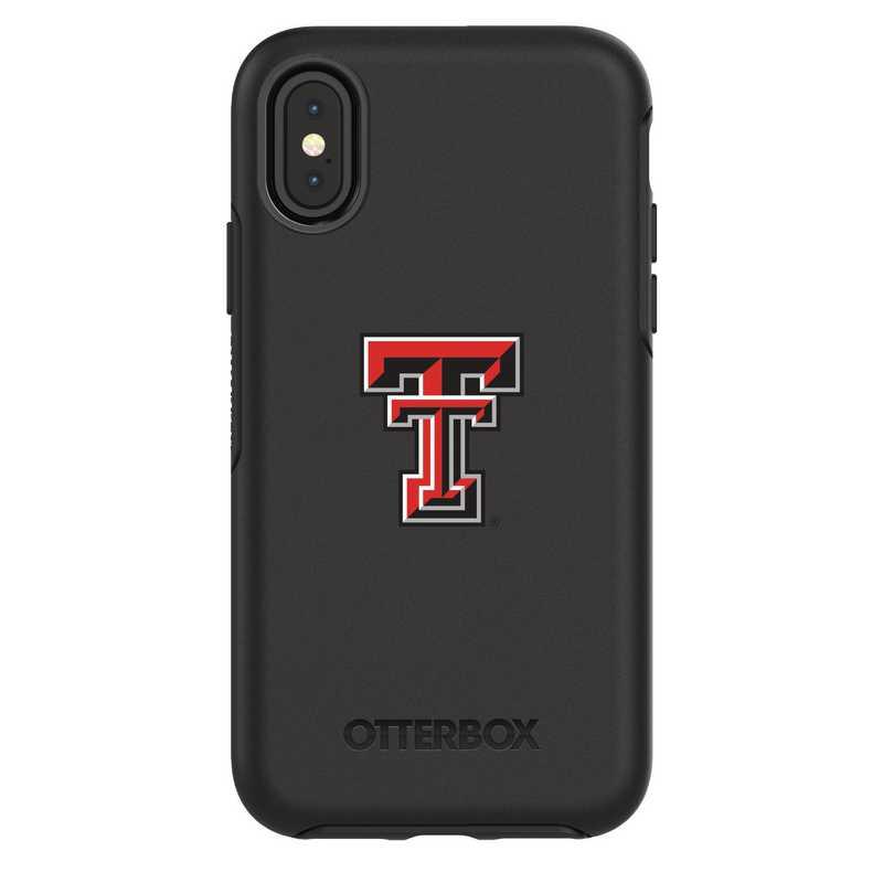 IPH-X-BK-SYM-TT-D101: FB Texas Tech iPhone X Symmetry Series Case