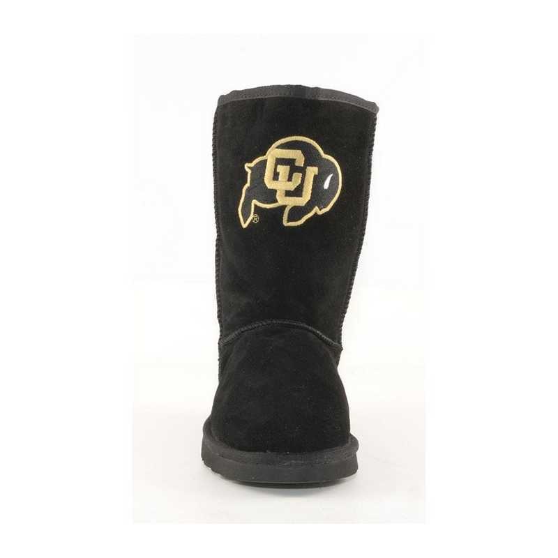 University Of Colorado Black Ladies Lambskin Roadie Boot by Gameday Boots