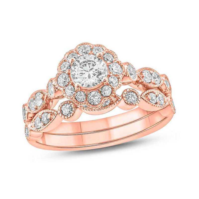 1 CT.T.W. Diamond Fashion Ring 10K Rose Gold