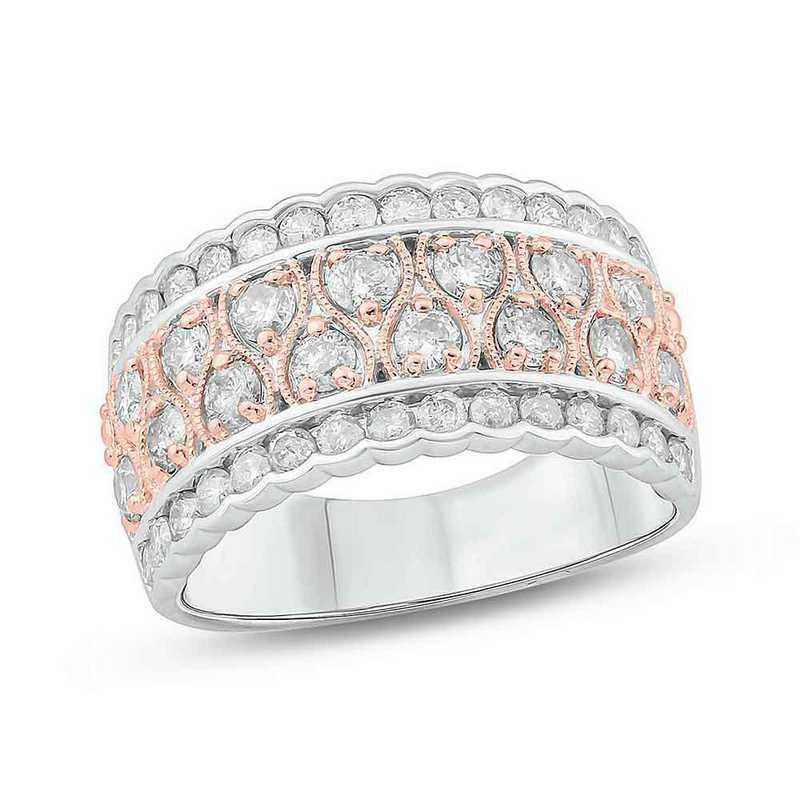 1 1/2 CT.T.W. Diamond Fashion Band Ring 10K White Gold