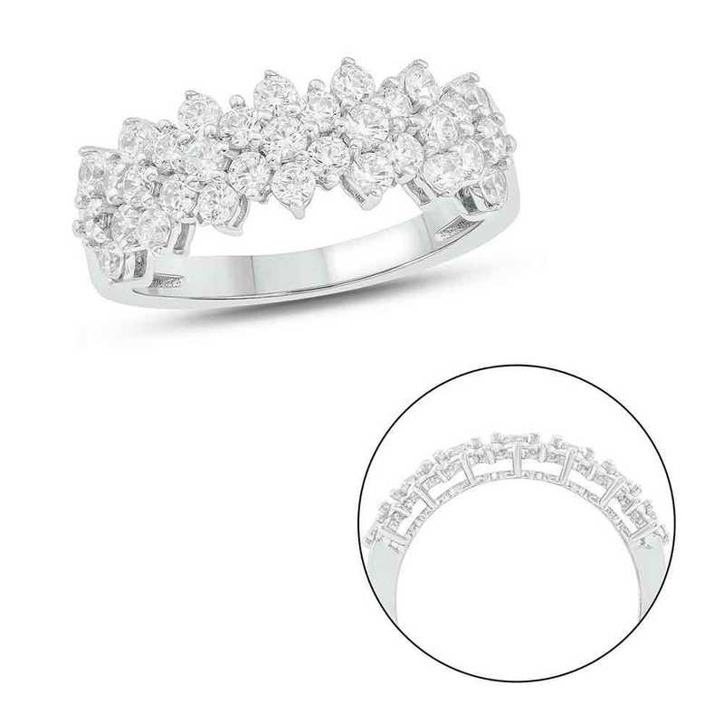 1 1/2 CT.T.W. Diamond Fashion Cluster Ring 10K White Gold