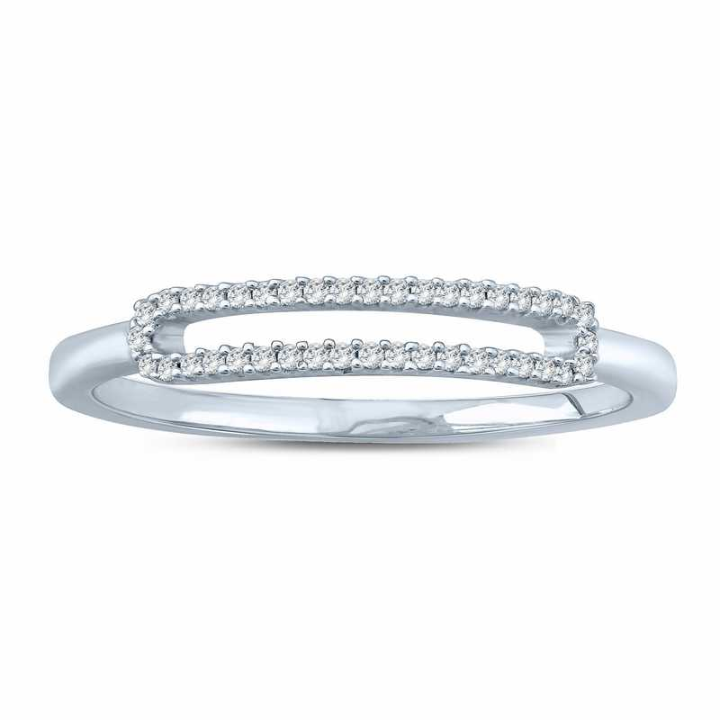 1/10 CT. T.W. Round Diamond Fashion Ring in Sterling Silver