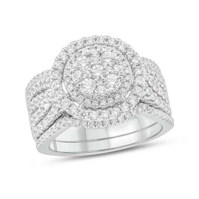 1 1/2 Cttw Diamond Ring 10Kt White Gold
