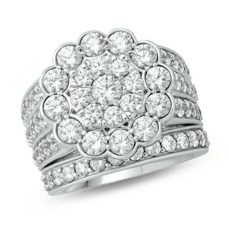 4 Cttw  Diamond Ring 10Kt White Gold