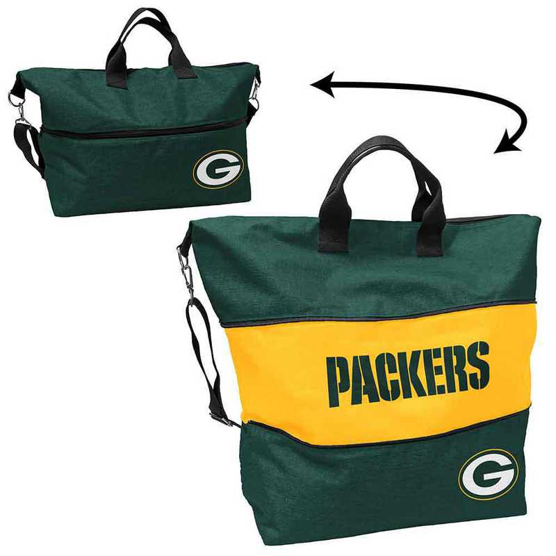612-665-CR1: LB Green Bay Packers Crosshatch Expandable Tote