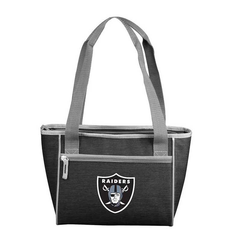 623-83-CR1: Oakland Raiders Crosshatch 16 Can Cooler Tote