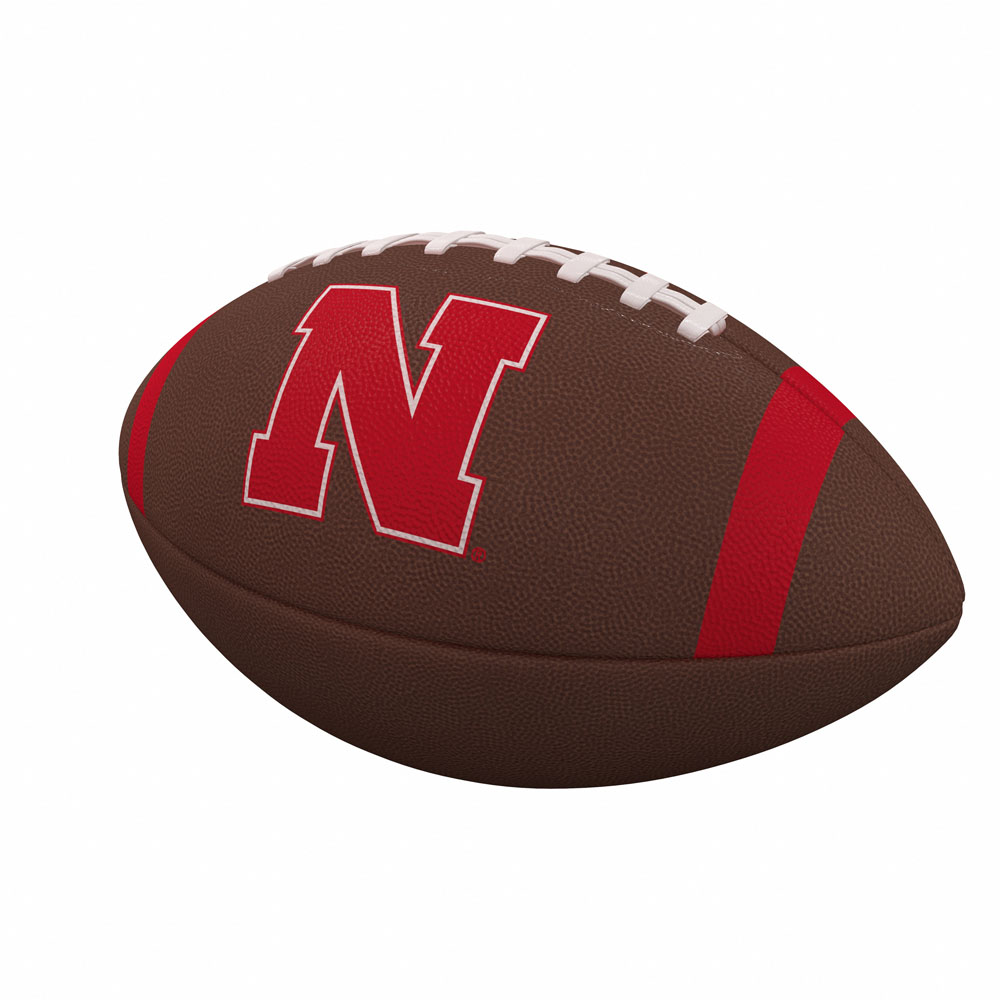 Brown Logo Brands NCAA Nebraska Cornhuskers Mini Size Rubber Basketball