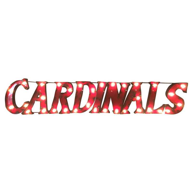 CARDINALSWDLGT: Louisville Cardinals Metal Décor w/Lights