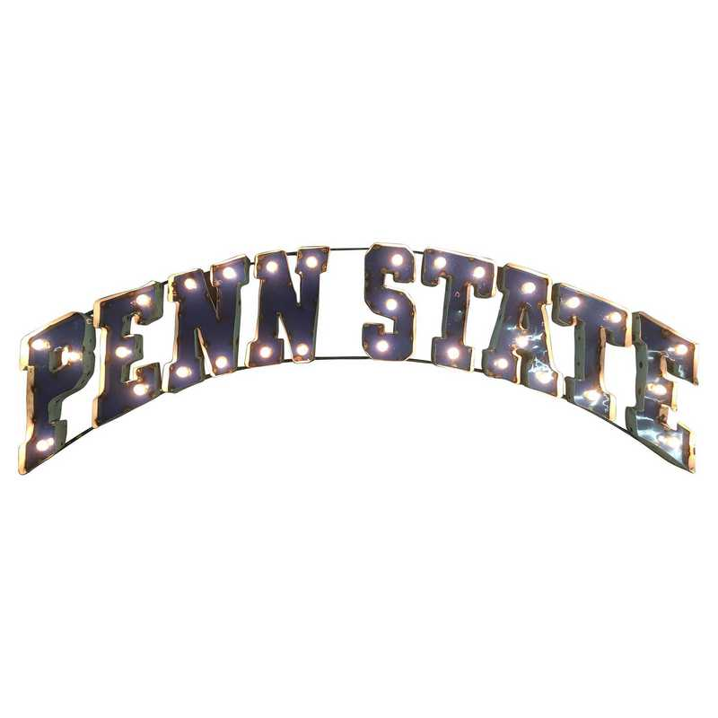 PNSTWDLGT: Penn St Metal Décor w/Lights