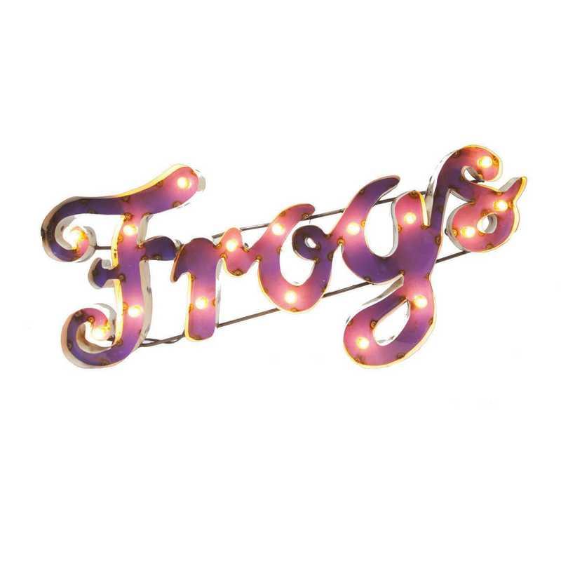 FROGSPRWDLGT: TCU Frogs Metal Décor w/Lights